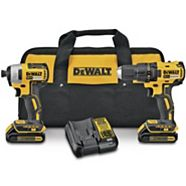 DEWALT 20V Max Li-Ion Brushless Cordless Compact Drill and Impact Driver Combo Kit