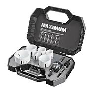 MAXIMUM M42 Cobalt Bi-Metal Hole Saw Kit, 8-pc