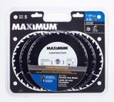 Lame pour scie circulaire MAXIMUM, 24 dents, 7 1/4 po,  paq. 5 | MAXIMUM | Canadian Tire