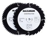 Lames pour scie circulaire MAXIMUM assorties, 10 po, paq. 2 | MAXIMUM | Canadian Tire