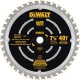 Lame de scie circulaire de destruction 40 dents DEWALT, 7 1/4 po | DEWALT | Canadian Tire