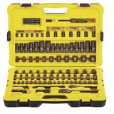 Stanley 122-piece Professional Grade Black Chrome Socket Set | Stanley