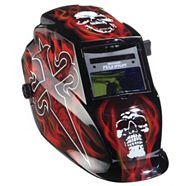 Casque de soudeur Mastercraft coloration automatique en rouge