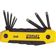 Stanley Folding Diamond SAE Hex Key Set, 8-pc