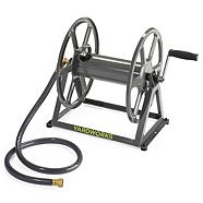 Yardworks Metal Hose Reel, Floor/Wall-Mount