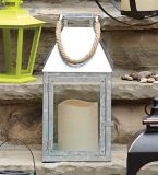 CANVAS Outdoor Metal Lantern with Candle, 16-in | Gerson