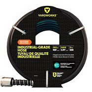 Yardworks Industrial Grade PVC Garden Hose, 100-ft
