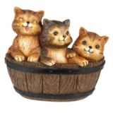 Cats in a Barrel Statue | For Living