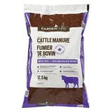 Circle Farms Cattle Manure, 12.5-kg | Garden Club | Cattle Manure is nature's own fertilizer for healthy growth of outdoor plants Naturally composted and dried to make fertilizer odourless, even after wetting