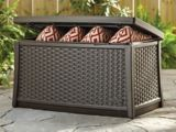 Suncast Wicker Table Box | Suncast