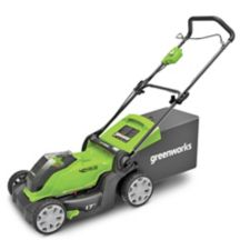 Greenworks 40V 4Ah 2-in-1 Cordless Push Lawn Mower, 17-in