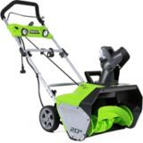 Greenworks13A Electric Snowthrower, 20-in | GREENWORKS