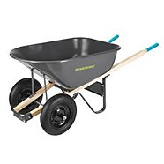 Yardworks 2-Wheeled Wheelbarrow, 6 cu. ft.
