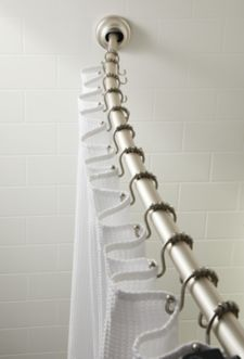 Zenith Curved Shower Rod Brushed Nickel Canadian Tire