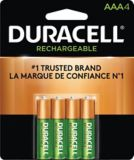 Duracell Pre-charged Rechargeable AAA Batteries, 4-pk | Duracell