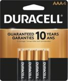 Duracell Copper Top Alkaline AAA Batteries, 4-pk | Duracell
