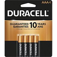 Duracell Copper Top Alkaline AAA Batteries, 4-pk