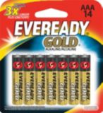 Piles AAA alcalines Eveready Gold, paq. 14 | Eveready