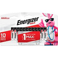Energizer Max AAA Batteries, 20-pk