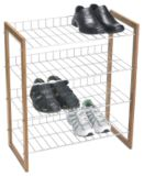 Bamboo and Metal Shoe rack | For Living