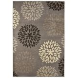 5x8' Garden Bud Grey Area Rug | For Living