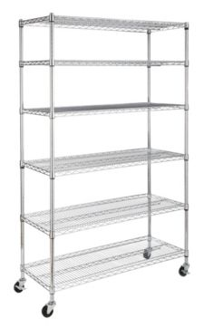 Room Essentials Wire Shelving Casters | For Living 6 Tier Wire Shelf With Castors Canadian Tire