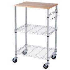 For Living Chrome Kitchen Cart