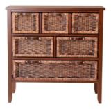 Dark Wicker Chest with Divider, 3-Drawer | For Living