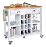 For Living Kitchen Cart with Wine Storage | For Living