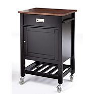 CANVAS Elwood Kitchen Cart, Black