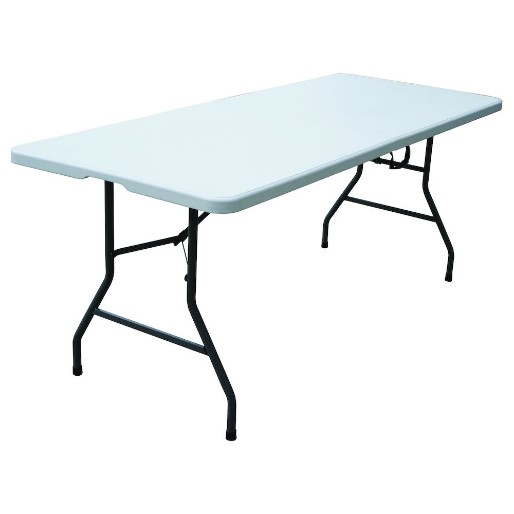 For Living Folding Table with Carry Handle, 6-ft