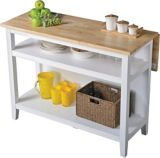 For Living Kitchen Island with Folding Leaf, White | For Living