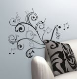 RoomMates Music Scroll Notes Wall Decal | RoomMates