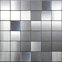 Carreaux muraux mosa que acier stilest 2 po for Carreaux muraux