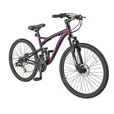 Schwinn Teslin 2 4 Full Suspension Mountain Bike, Women's, 26-in