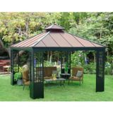Sunjoy Mentor Gazebo with Faux Copper Top, 12 x 12-ft | Sunjoy