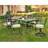 Sunjoy Simone Dining Set with Slate Table, 7-pc | Sunjoy