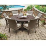Sunjoy Sangria Dining Set With LP Fire Table, 7-pc | Sunjoy