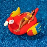 Giant Inflatable Ride-On Pool Parrot   Blue Wave   Canadian Tire