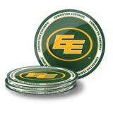 Edmonton Eskimos PVX Coaster Set, 4-pk | CFL | Canadian Tire