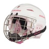 Bauer Lil' Sport Hockey Helmet Combo, Pink, Youth | Bauer