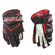 Bauer X:Edge Hockey Gloves, Red, Junior