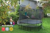 Springfree Trampoline with Safety Enclosure, 11 x 11-ft | Springfree