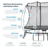 Springfree Square Trampoline with Safety Enclosure, 11 x 11-ft | Springfree