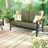 Monterey Collection Steel Cushioned Action Patio Loveseat | FOR LIVING | Canadian Tire