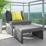 Umbra Loft Collection Middle Patio Chair With Ottoman