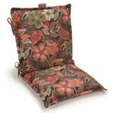 Black Floral Collection Patio Chair Cushion | For Living