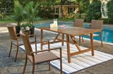 CANVAS Palma Trestle Base Patio Dining Table | Canvas