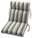 Coussin, fauteuil de terrasse, rayures sarcelle | Tuscany Stripe Spa Collection