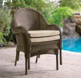 Brynn Resin Wicker Stacked Chair | For Living